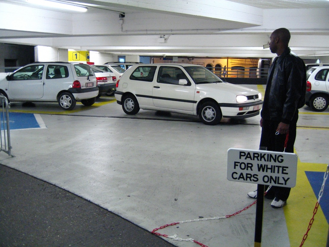 Parking for White Cars Only
